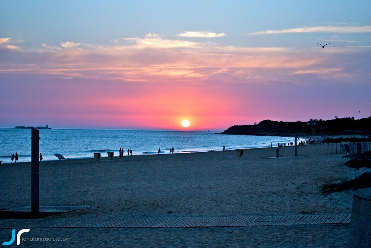 chiclana sunset photo