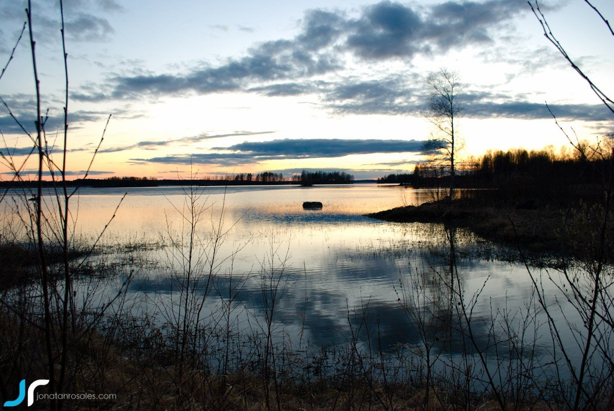 Kontiolahti lake sunset photo