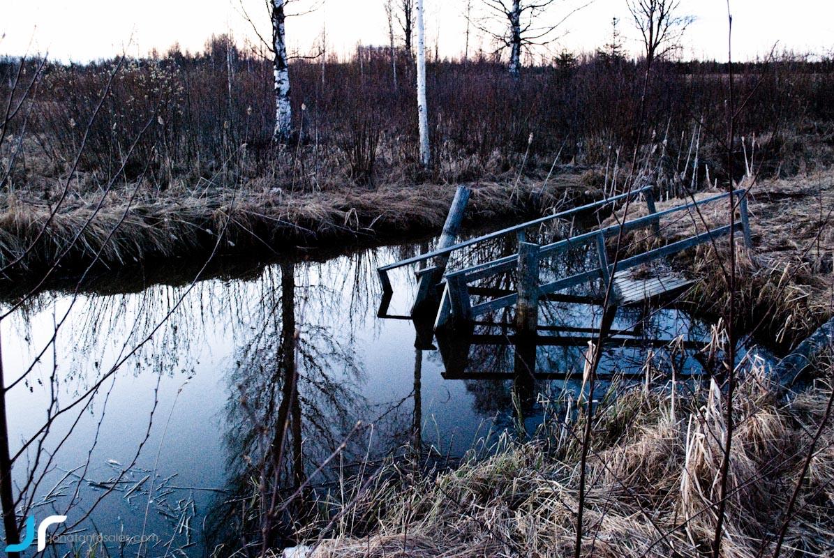 broken wooden structure photo