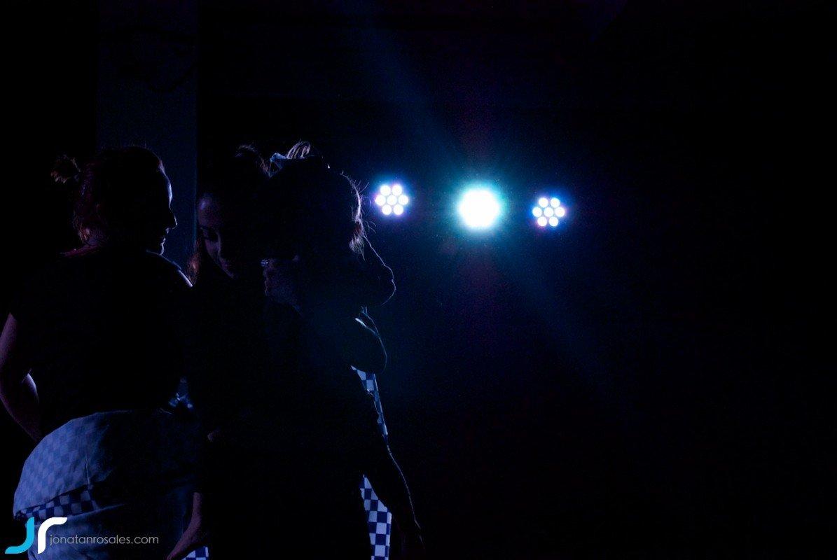 arte & vida dark lights dancing with litle girl II photo