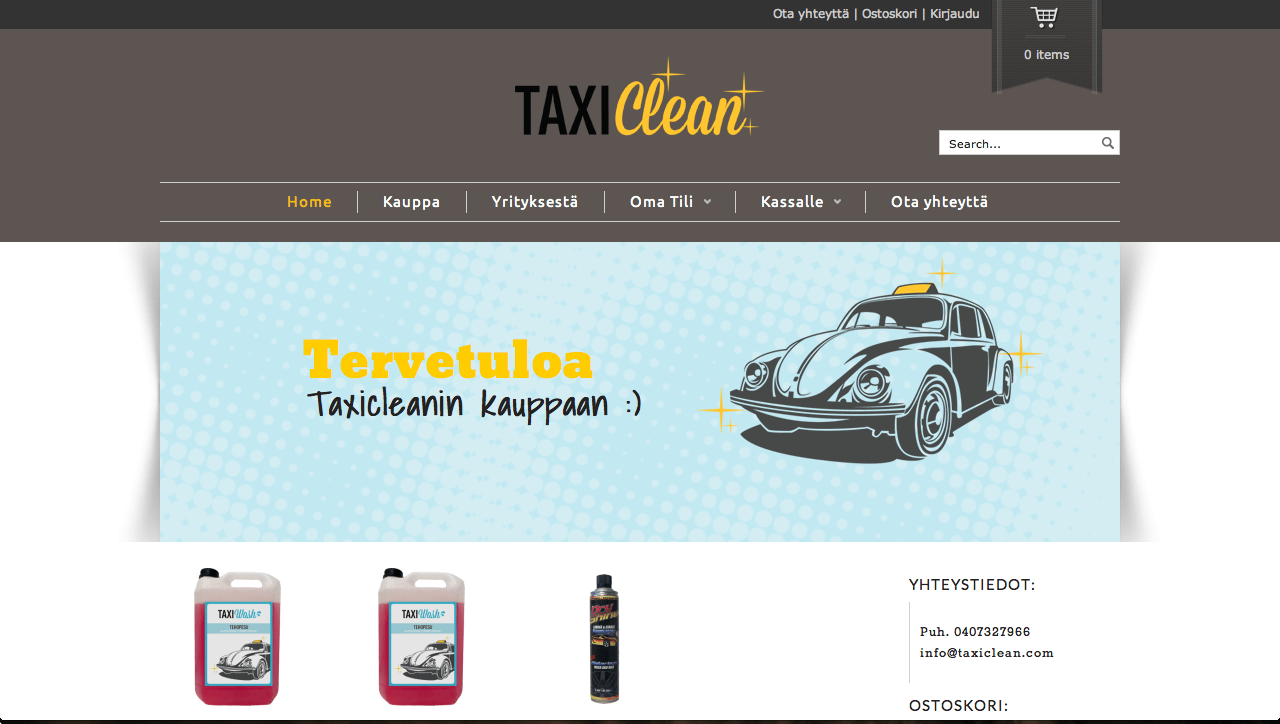 taxiclean.com website