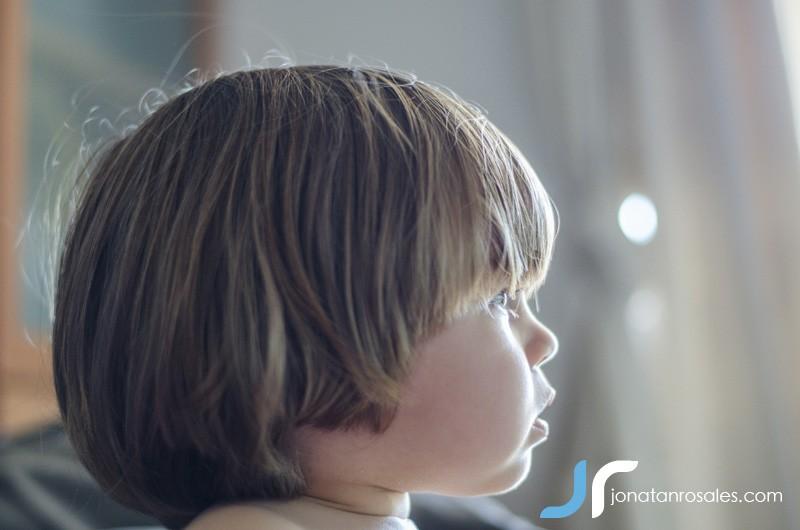 small boy watching tv photo
