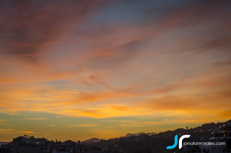 sunset over Torrequebrada