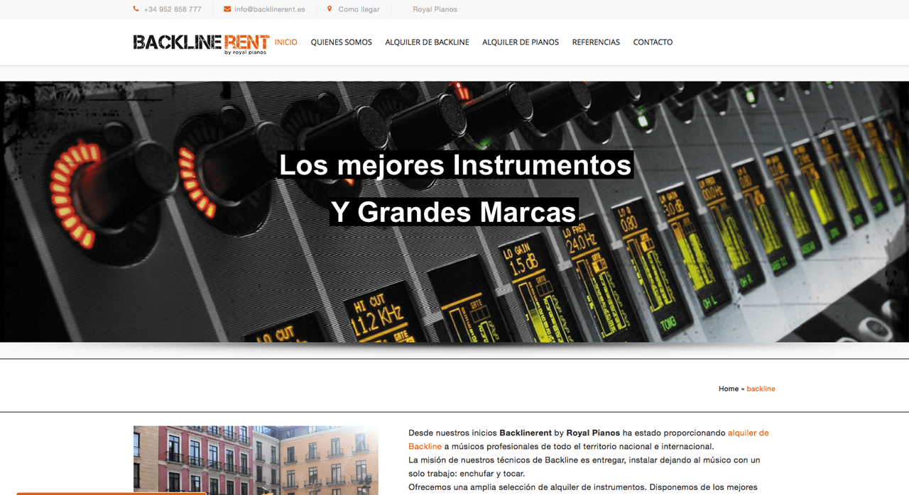 backlinerent.es alquiler de instrumentos y backline