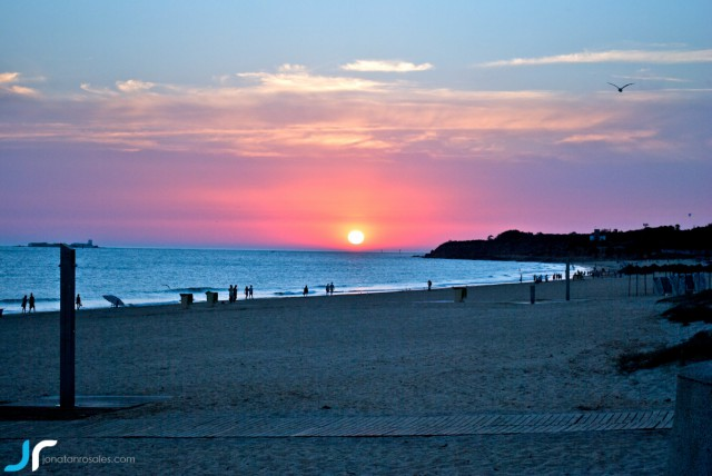 Sunset in Chiclana, Cadiz