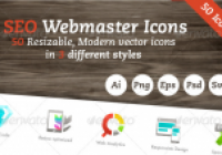 Amazing SEO Webmaster Vector Icon Set